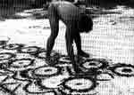 A Tukano shaman (Barasana group) draws entoptic shapes in the sand after a visionary experience.