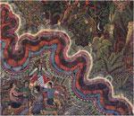 """Ayahuasca vision: """"Pulsations"""" by Pable Amaringo (Amaringo/Luna)."""
