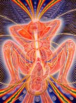 "Alex Grey Artwork: ""Birth"" (19,5x14,5 in. signed limited edition of 300)."