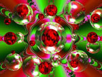 Eye Floaters - Christmas Bubbles: Happy shining holiday to all of you out there!