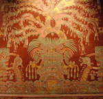 The world tree grows out of the head of the Great Goddess of Teotihuacán.