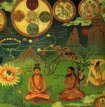 Thogal adept at meditating on entoptic phenomena of light.